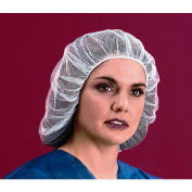 "Nylon Hairnet, Honeycomb, 1/16"" Hole, 100% Latex Free, White, 28"", 100/Bag"