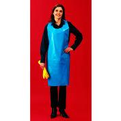 "1 Mil Polyethylene Apron, Blue, 28"" x 46"", 100/Bag, 10 Bags/Case"
