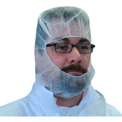 Lightweight Polypropylene Hood, 100% Latex-Free White, One Size, 100/Bag