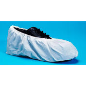 Cross Linked Polyethylene Shoe Covers, Water Resistant, White, LG, 100/Bag