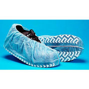 Polypropylene Non-Skid Shoe Covers, Blue with White Tread, LG, 300/Case