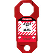 Accuform KDH733 Stopout® Double-Cross Aluma-Tag™ Hasp, Danger Label, Aluminum