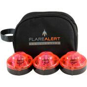 FlareAlert Pro Battery Powered LED Emergency 3 Beacon Kit, Red, B3-FP-R