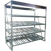 "Galvanized Flow Rack Add-On 60""W x 48""D x 96""H with 4 Levels"
