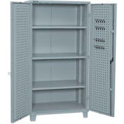 "Kennedy Storage Cabinet 10350UGY 39-1/4""W x 23-1/4""D x 76""H Welded with Pegboard- Gray"