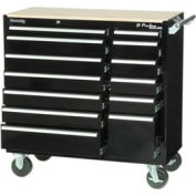"Kennedy® 39"" 13-Drawer Roller Cabinet - Black"