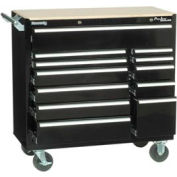 "Kennedy® 39"" 12-Drawer Roller Cabinet - Black"