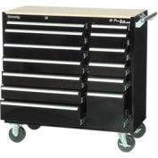 "Kennedy® 41"" 13-Drawer Roller Cabinet - Black"