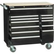 "Kennedy® 41"" 12-Drawer Roller Cabinet - Black"