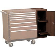 "Kennedy® 182XB 18"" 2-Shelf Hang-On Cabinet - Brown"