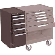 """Kennedy® 205XB K2000 Series 13-5/8""""W X 20""""D X 29""""H 5 Drawer Brown Hang-On Side Cabinet"""