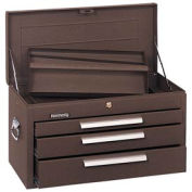 "Kennedy® 263B Signature Series 26-1/8""W X 12""D X 14-3/4""H 3 Drawer Brown Mechanics Chest W/Tray"