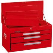 "Kennedy® 263R 26"" 3-Drawer Mechanics Chest w/ Tray - Red"