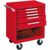 """Kennedy® 275XR 27"""" 5-Drawer Roller Cabinet w/ Ball Bearing Slides - Red"""