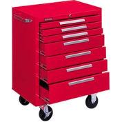 "Kennedy® 277R 27"" 7-Drawer Roller Cabinet w/ Friction Slides - Red"