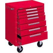"""Kennedy® 277XR 27"""" 7-Drawer Roller Cabinet w/ Ball Bearing Slides - Red"""