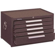 "Kennedy® 285B 27"" 5-Drawer Mechanics Chest w/ Friction Slides - Brown"