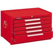"Kennedy® 285XR Signature Series 27""W X 18""D X 16-5/8""H 5 Drawer Red Mechanics Chest"