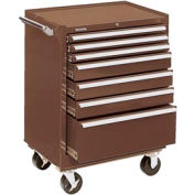 "Kennedy® 2907XB 29"" 7-Drawer Roller Cabinet - Brown"