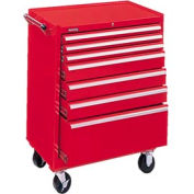 "Kennedy® 2907XR 29"" 7-Drawer Roller Cabinet - Red"