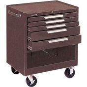 "Kennedy® 295B 29"" 5-Drawer Roller Cabinet w/ Friction Slides - Brown"