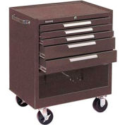 "Kennedy® 295XB K2000 Series 29""W X 20""D X 35""H 5 Drawer Brown Roller Cabinet"
