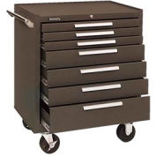 "Kennedy® 297B 29"" 7-Drawer Roller Cabinet w/ Friction Slides - Brown"