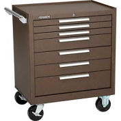 "Kennedy® 297XB 29"" 7-Drawer Roller Cabinet w/ Ball Bearing Slides - Brown"