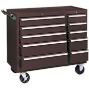 "Kennedy® 310XB K1800 Series 39-3/8""W X 18""D X 35""H 10 Drawer Brown Roller Cabinet"