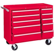 "Kennedy® 310XR K1800 Series 39-3/8""W X 18""D X 35""H 10 Drawer Red Roller Cabinet"