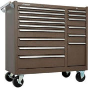 "Kennedy® 315XB K1800 Series 39-3/8""W X 18""D X 39""H 15 Drawer Brown Roller Cabinet"