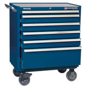 "Kennedy® 3402MPBL 34"" 6-Drawer Roller Cabinet - Blue"