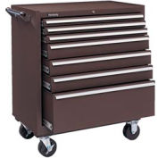 "Kennedy® 3407XB 34"" 7-Drawer Roller Cabinet - Brown"