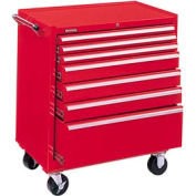 "Kennedy® 3407XR 34"" 7-Drawer Roller Cabinet - Red"