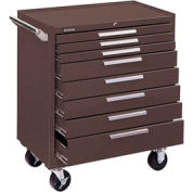 "Kennedy® 348XB K2000 Series 34""W X 20""D X 40""H 8 Drawer Brown Roller Cabinet"