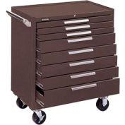 "Kennedy® 348XB K2000 Series 34""W X 20""D X 40""H 8 Drawer Brown Roller Cabinet"