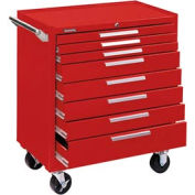 "Kennedy® 348XR 34"" 8-Drawer Roller Cabinet w/ Ball Bearing Slides - Red"