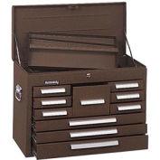 "Kennedy® 360B Signature Series 26-1/8""W X 12-1/16""D X 18-7/8""H 10 Drawer Brown Mechanics Chest"