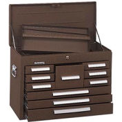 "Kennedy® 360B Signature Series 26-1/8""W X 12-1/16""D X 18-7/8""H 10 Drawer Brown Mechanics Chest"
