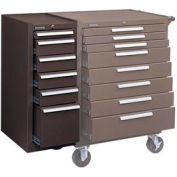 """Kennedy® 386XB 18"""" 6-Drawer Hang-On Cabinet - Brown"""