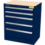 Kennedy 5-Drawer Hybrid Modular Cabinet w/Full Extension Slide Drawers-29x20x31, Classic Blue