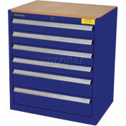 Kennedy 6-Drawer Hybrid Modular Cabinet w/Full Extension Slide Drawers-29x20x31, Classic Blue