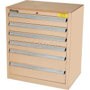 Kennedy 6-Drawer Hybrid Modular Cabinet w/Full Extension Slide Drawers-29x20x31, Gray
