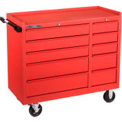 """Kennedy® 4010CRW K1800 Series 40"""" Commercial 10-Drawer Roller Cabinet - Red Wrinkle"""