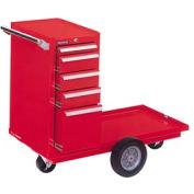 "Kennedy® 415XR 41""  5-Drawer Versa-Cart w/ Ball Bearing Slides - Red"