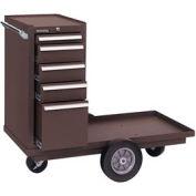 "Kennedy® 435B 43"" 5-Drawer Versa-Cart w/ Friction Slides - Brown"