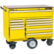 """Kennedy® 4400MPYW 44"""" 10-Drawer Roller Cabinet - Yellow"""
