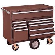 "Kennedy® 4410B 44"" 10-Drawer Roller Cabinet - Brown"