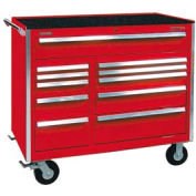 "Kennedy® 46"" 11-Drawer Roller Cabinet - Red"