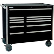 "Kennedy® 46"" 11-Drawer Roller Cabinet - Black"